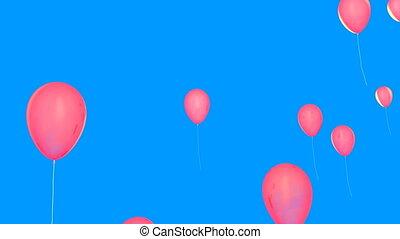 rosa, luftballone