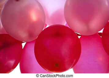 rosa, luftballone, hintergrund