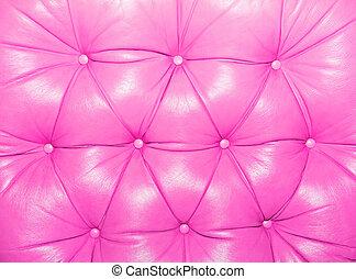 rosa, lujo, adornado, cuero, textura, para, plano de fondo