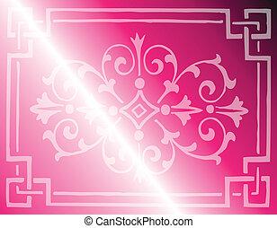 rosa, luz, diseño, plano de fondo