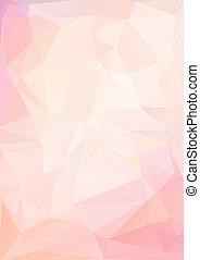 rosa, luz, polygonal, plano de fondo