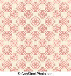 rosa, mönster, abstrakt, seamless, bakgrund., vita blommar