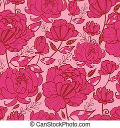 rosa, mönster, bladen, seamless, bakgrund, blomningen