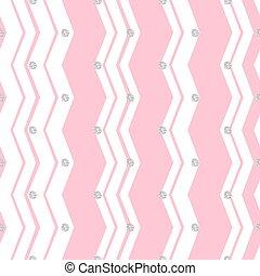rosa, mönster, seamless, sicksack, bakgrund, glitter, silver, punkt
