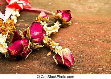 rosa, madeira, morrido, fundo