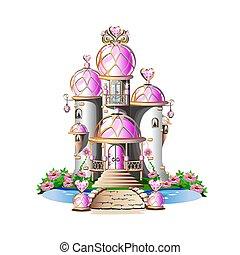 rosa, magia, castello