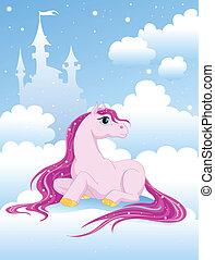 rosa, magisches, pony