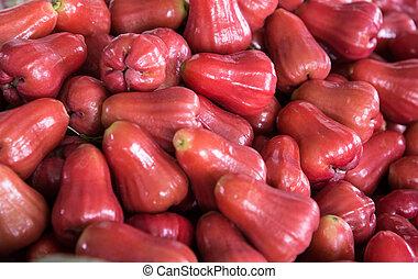 rosa, manzana, rojo