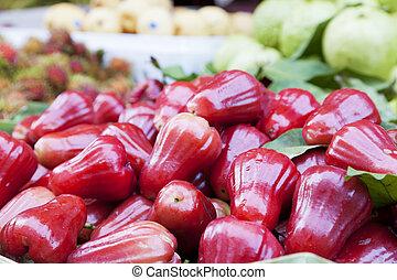 rosa, mele, rosso