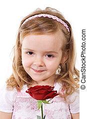 rosa, menininha, feliz