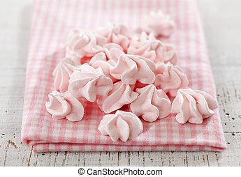rosa, meringe, pl�tzchen