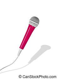 rosa, microfono