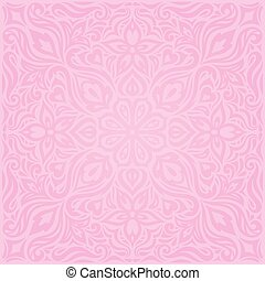 rosa, moda, carta da parati, floreale, vettore, disegno, fondo, matrimonio, trendy, mandala