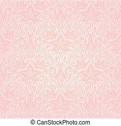 rosa, moda, carta da parati, floreale, vettore, disegno, trendy