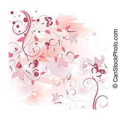 rosa, modello, alba