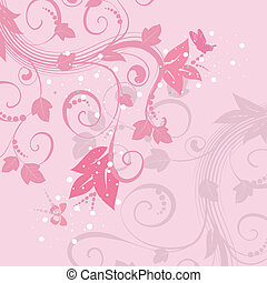 rosa, modello, astratto, fondo