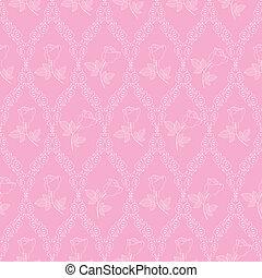 rosa, modello, astratto, seamless, oriente