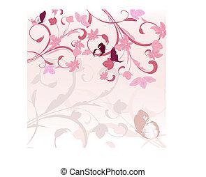 rosa, modello, bordo