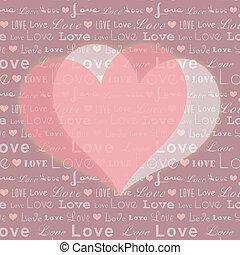 rosa, modello cuore, astratto, seamless, valentina, forma, fondo, bianco, st