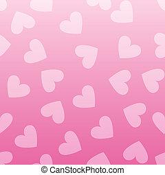 rosa, modello cuore, seamless, fondo., vendemmia