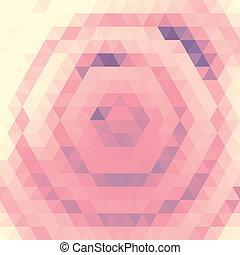 rosa, modello, griglia