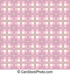 rosa, modello, plaid, disegno