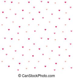 rosa, modello, polka, seamless, cuori, puntino