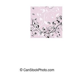 rosa, modello, seamless, fondo