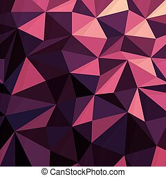 rosa, modello, triangolare, poly, scuro, basso