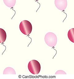 rosa, modello, vettore, palloni, seamless