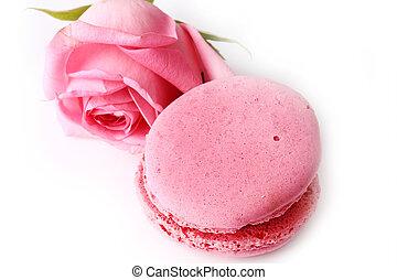 rosa, mother's, amore, gentile, rosa, isolato, giorno, tenerezza, amaretto, fondo, valentine's, bianco, felice