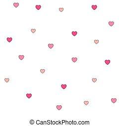 rosa, muster, polka, seamless, herzen, punkt