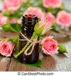 rosa, olio, essenziale