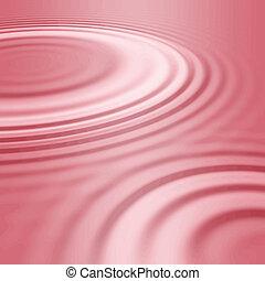 rosa, ondas