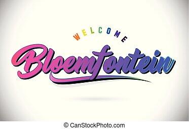 rosa, ord, purpur, text, välkommen, skapande, bloemfontein, ...