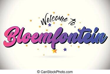 rosa, ord, stjärnor, purpur, text, välkommen, gul, ...