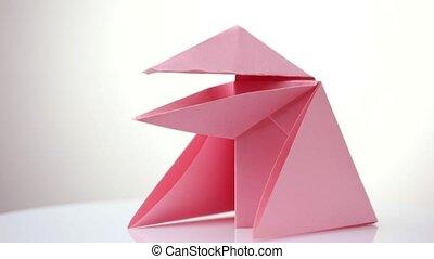rosa, origami, snapper.