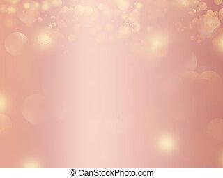 rosa, oro, resplandor, diseño, plano de fondo, resumen