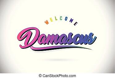 rosa, parola, viola, testo, benvenuto, creativo, damasco,...