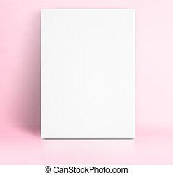 rosa, pastell, hinzufügen, farbe, plakat, mager, auf,...