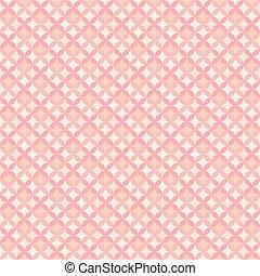 rosa, pastell, wallpaper., romantisk, kvinnlig, mönster, abstrakt, seamless, illustration, color., bakgrund., vektor, blommig, geometrisk, design.