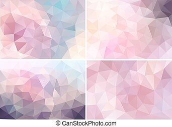 rosa, pastello,  poly, Sfondi,  V, basso