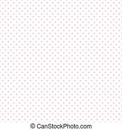 rosa, pastello, punti, bianco, seamless