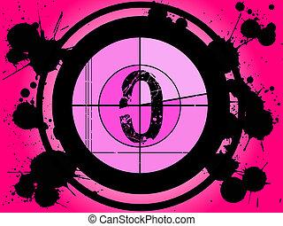 rosa, película, cuenta atrás, -, en, 0