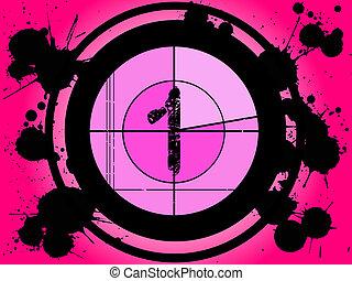 rosa, película, cuenta atrás, -, en, 1