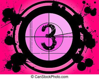 rosa, película, cuenta atrás, -, en, 3