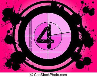 rosa, película, cuenta atrás, -, en, 4