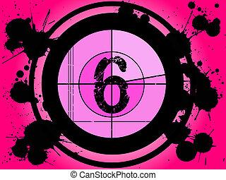 rosa, película, cuenta atrás, -, en, 6