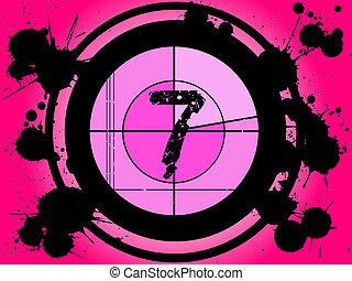 rosa, película, cuenta atrás, -, en, 7