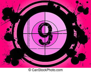 rosa, película, cuenta atrás, -, en, 9